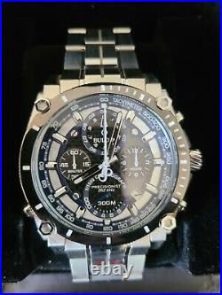 Bulova 46mm Silver Stainless Steel Case and Band Men's Wristwatch