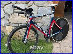Cannondale Slice Triathlon Time Trial Bike With Scicon Travel Case and TT Helmet