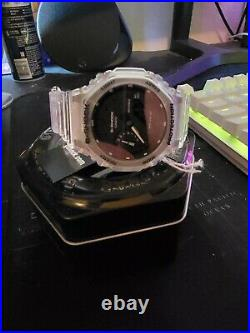Casio G-Shock 49mm Clear Carbon Case with Clear Resin Strap Women's Wristwatch