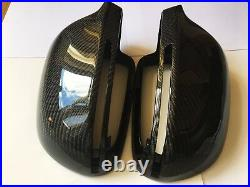 For Audi A5 S5 2008-2009 Carbon Fiber Wing Mirror Cover Caps Replacement OEM-fit