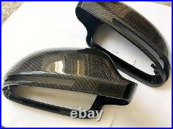 For Audi A6 S6 Rs6 2009-2011 Carbon Fiber Wing Mirror Covers Replacement OEM-fit