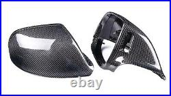 For Audi Q5 SQ5 08-16 Q7 10-15 Carbon Fiber Wing Mirror Covers with Lane Assist
