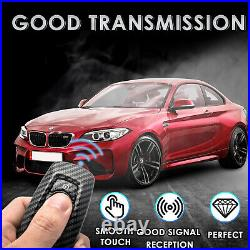 For BMW F10 F11 F30 F31 Remote Carbon Fiber Style Smart Key Fob Case Shell Cover