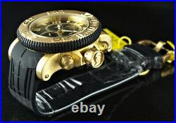 NEW Invicta 70mm Sea Hunter Swiss Movt Chronograph Gold SS Case Day/Date Watch
