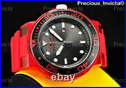 NEW Invicta Men's 52mm Grand Pro Diver ANATOMIC CASE Red With Two Bracelets Set