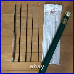 RL Winston 8'9 5pc # 3 Fly Rod Green with case Bag