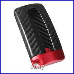 Real Carbon Fiber Red Remote Key Case Fob Shell Cover For Nissan Infiniti GTR